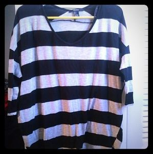 Striped forever21 3/4 sleeve shirt 💐bonus💐